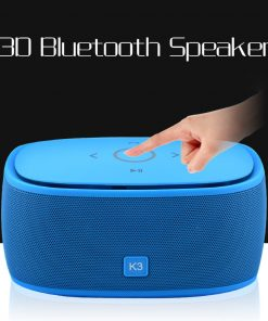 Portable 3D Surround Super Bass Bluetooth Speaker with TF Car MP3 Player