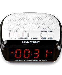 Mini Wireless Bluetooth Stereo Subwoofer Alarm Clock LED Speaker with FM Radio